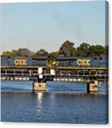 Csx On Mills Bayou Canvas Print
