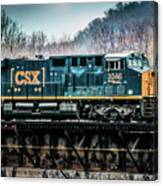 Cs X  Ge Engine 3046 On Trestle Canvas Print