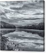 Ct River Putney Bw Canvas Print