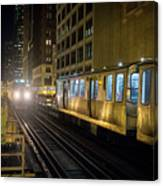 Cta Meet At The State-lake Street Station Chicago Illinois Canvas Print