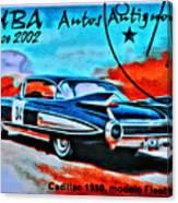 Cuba Antique Auto 1959 Fleetwood Canvas Print