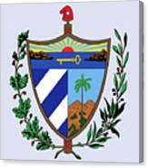 Cuba Coat Of Arms Canvas Print