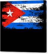 Cuba Flag Gift Country Patriotic Travel Shirt Americas Light Canvas Print