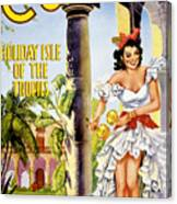 Cuba Holiday Isle Of The Tropics Vintage Poster Canvas Print