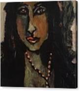 Cuba Lady Canvas Print