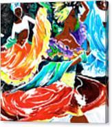 Cuban Dancers - Magical Rhythms... Canvas Print
