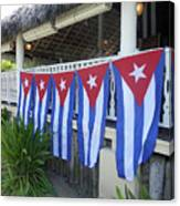 Cuban Flags Canvas Print
