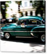 Cuban Green Old-timer Canvas Print