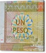 Cuban Peso Canvas Print