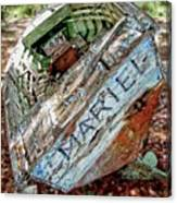 Cuban Refugee Boat 3 The Mariel Canvas Print