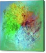 Cubist Rainbow Clouds Canvas Print