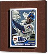 Cubs Card Collection Canvas Print