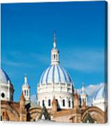 Cuenca Cathedral Domes Canvas Print