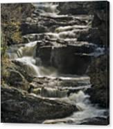 Cullasaja Falls In Autumn Close Up Canvas Print