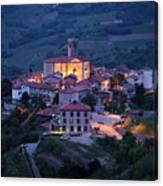 Cultural Heritage Monument Medieval Hilltop Village Of Smartno B Canvas Print