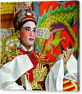 Cultural Opera Actor In Red Canvas Print