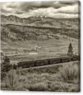 Cumbres Toltec Railroad Nm Sepia Dsc04065 Canvas Print