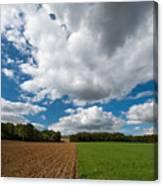 Cumulus Skies In France Canvas Print