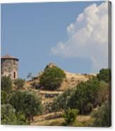 Cunda Island Greek Windmill Canvas Print
