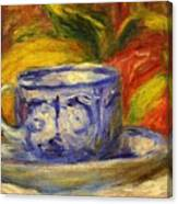Cup And Fruit Canvas Print