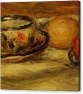 Cup Lemon And Tomato Canvas Print