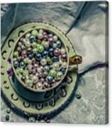 Cup Of Beads Canvas Print