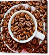 Cup Of Raw Coffee Canvas Print