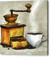 Cup Of The Hot Black Coffee Canvas Print