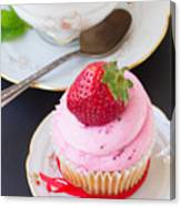 Cupcake With Strawberry Canvas Print