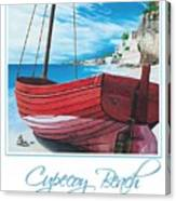 Cupecoy Beach Poster Canvas Print