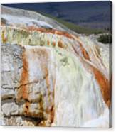 Cupid Spring At Mammoth Hot Springs Canvas Print