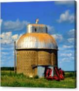 Cupola Grain Silo - Iowa Canvas Print