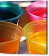 Cups of Color Canvas Print