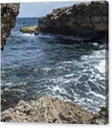 Curacao - Coast At Shete Boka National Park Canvas Print