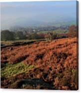 Curbar Edge Curbar Valley Derbyshire Canvas Print
