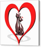 Curiosity Heart Loves The Cats Canvas Print