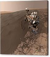 Curiosity Rover Self-portrait Canvas Print