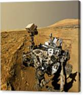 Curiosity Self-portrait At Windjana Drilling Site Canvas Print