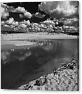 Curl Curl Beach With Dramatic Sky Canvas Print