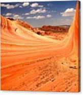 Curling Sandstone Waves Canvas Print