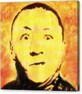 Curly Howard Three Stooges Pop Art Canvas Print