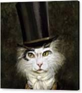 Curmudgeon Cat Canvas Print