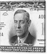 Currency: 100,000 Dollar Bill Canvas Print