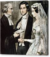 Currier: The Marriage Canvas Print