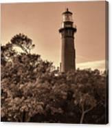 Currituck Beach Lighthouse - Sepia Canvas Print