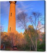 Currituck Lighthouse In Winter Outer Banks Ap Canvas Print