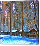 Curry Cabins Christmas Day Canvas Print