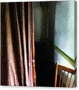 Curtains Closed Canvas Print