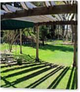 Curved Arbor  Canvas Print