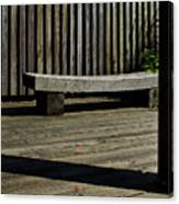 Curved Bench Canvas Print